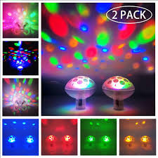Baby Bath Disco Lights Floating Pool Lights Pool Lights Waterproof Baby Bath Lights For The Tub 7 Lighting Modes Colorful Bathtub Toy Lights Disco Pool Party Lights For