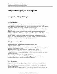 Finance Project Manager Job Description Top Profile Resume