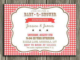 Picnic Invitation Images Blanket Pattern Petite Picnic Party Red
