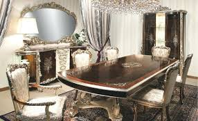 high end dining room furniture. Italian Decorating Ideas Living Room Dining With High Class Furniture And Mirrors . End
