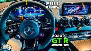 The interior also feels less intense, trading in the gt r's carbon fiber and alcantara for leather and metal trim instead. 2020 Mercedes Amg Gt R Coupe Facelift Brutal V8 Full Review Interior Infotainment Youtube
