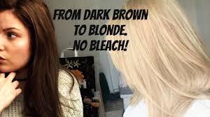 Hair Dye From Dark Brown To Blonde