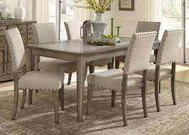 liberty furniture weatherford casual rustic  piece dining table