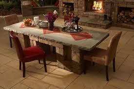 Kitchen Table : Beautiful Wood And Stone Dining Table Stone Marble ...