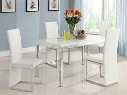 clarice collection dining set 2447 homelegance glossy white table top white modern chairs