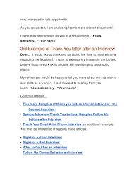 Bunch Ideas of Thank You Letter Before Interview Opportunity By Email Also Format