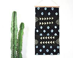 indigo and black mudcloth wall hanging african mud cloth wall art textile geometric traditional weaving organic cotton copper tapestry on mud cloth wall art with mud cloth wall art etsy