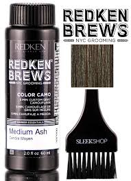 Redken Color Camo Color Chart Redken Brews Color Camo 5 Minute Custom Gray Camoflauge Hair Color With Sleek Tint Brush Dark Natural