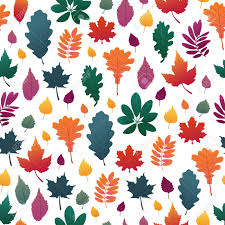 Fall Leaf Pattern Delectable Seamless Background With Autumn Leaf Pattern Fall Herb Twig
