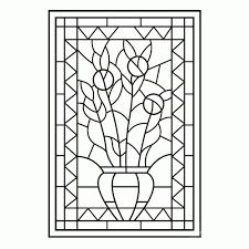 25 Bladeren Glas In Lood Kleurplaat Mandala Kleurplaat Voor Kinderen