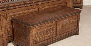 Addison Rustic Style Reclaimed Wood Trunk   Crafters U0026 Weavers   1
