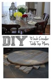 70 inch round table top diy tutorial just stuff