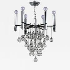 listings furniture lighting chandeliers and pendants mid century modern chrome crystal chandelier