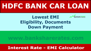 Hdfc Car Loan Interest Rate 9 30 July 2017 Emi