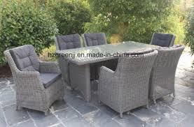 rattan garden furniture outdoor dinging set 0633 in round wicker