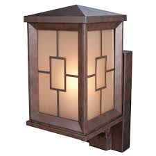 heath zenith 1 light heritage bronze motion activated outdoor wall mount lantern