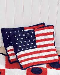 American Flag Crochet Pattern Enchanting American Flag Cushions Crochet Pattern FaveCrafts