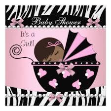 Pink Zebra Print Baby Shower Invitations 17363Pink Zebra Baby Shower Invitations
