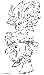 dragon ball z goku coloring pages s sheets