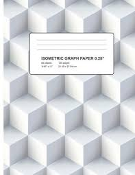 Isometric Graph Paper Graph Paper Notebook Triangle Size 0 28