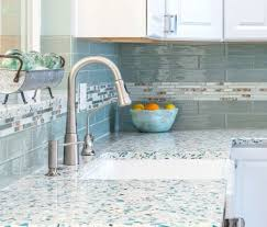 recycled sea glass countertop ideas for kitchen and bath