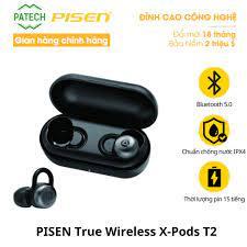 Tai nghe không dây PISEN True Wireless Earphone X-Pods T2 - Hàng Chính Hãng  - Tai nghe Bluetooth nhét Tai Nhà sản xuất Pisen