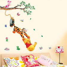 Small Picture Pooh Tree Animal Cartoon Vinyl Wall Stickers For Kids Rooms Home