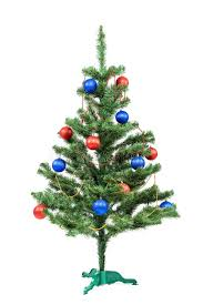 Download Christmas Tree Decorated Red And Blue Balls. Stock Image - Image  of ball,