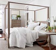 Full Size Wood Canopy Bed | Pottery Barn