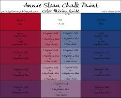 Annie Sloan Chalk Paint Mixing Chart Colorways Annie Sloan Chalk Paint Mixing For Purple With