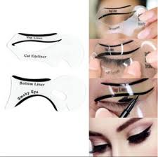 imported 1 pair easy eyeliner stencil cat eye smokey eye makeup top bottom eyeline in india pare s