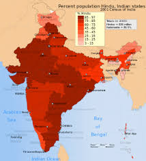 Population Chart Of Indian States Hinduism In India Wikipedia