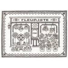 Passage 花 屋 クロスステッチ 刺繍