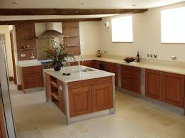 White Marble Floor Kitchen Modern Wood Kitchen Cabinets Brown Cabinetry Also Island And White