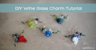 diy wine glass charm tutorial by laura radniecki