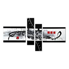 black white abstract love canvas wall art oil painting
