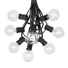 commercial patio lights. Picture Of 100 G40 Globe String Light Set With Clear Bulbs On Black Wire Commercial Patio Lights