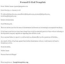 Formal Business Email Template Format Sample Pdf Example