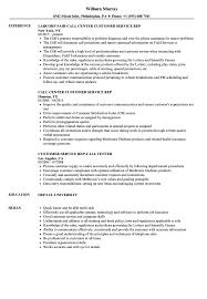 Fielde Representative Resume Example Call Center Customer Sample