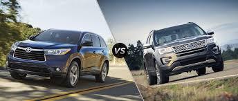 2016 Toyota Highlander vs 2016 Ford Explorer
