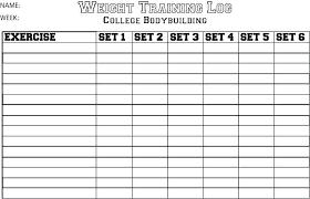 Exercise Program Templates Workout Program Design Template