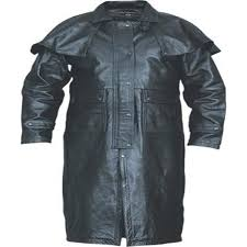 add to my lists allstate mens western style lined black leather duster coat