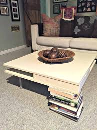 diy ottoman coffee table ottoman coffee table how to turn a plain old end table