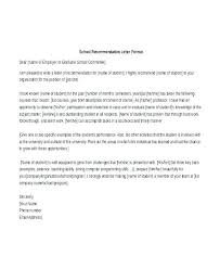 Recommendation Letter From Employer For Student Layout Types Of Recommendation Letter Employment Reference