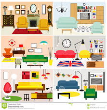living room furniture clipart. royalty-free vector. download furniture ideas for living room clipart r