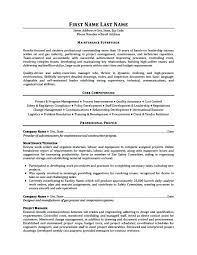Maintenance Supervisor Sample Resume Resume Examples For Maintenance