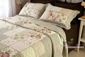 Country Patchwork Quilts – co-nnect.me & ... Queen Country Floral Patchwork Quilted Cotton Coverlet Bedspread Quilt  Set V Ebay Country Patchwork Quilts Cookeville ... Adamdwight.com