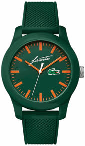 lacoste 12 12 green silicone strap watch 2010862 men s lacoste 12 12 green silicone strap watch 2010862