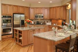 white brown colors kitchen breakfast. Unique Breakfast U Shaped Kitchen Remodel Before And After Arched Frame Windows Orange Shade  Pendant Lights Pull Out Cabinet Organizer Island Breakfast Bar Linear Globe  On White Brown Colors T