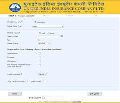 United Insurance Mediclaim Premium Chart United India Insurance Company Limited Premium Calculator